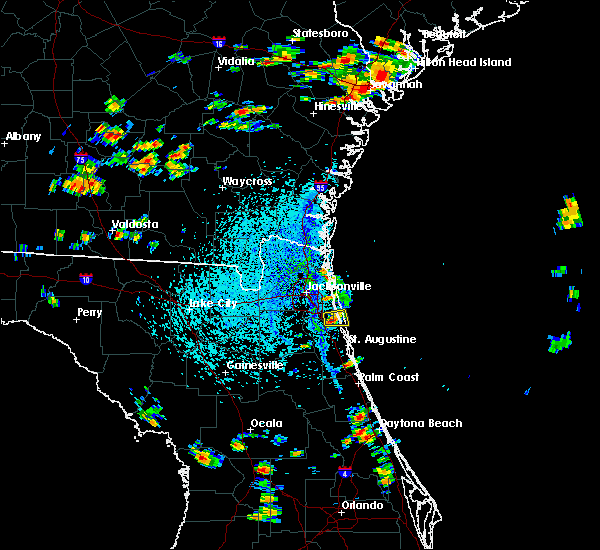 Radar Image for Severe Thunderstorms near Palm Valley, FL at 8/9/2020 3:20 PM EDT