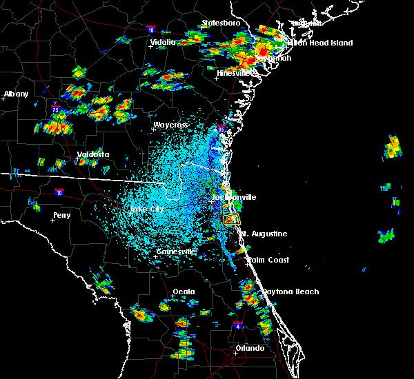Radar Image for Severe Thunderstorms near Jacksonville, FL at 8/9/2020 3:20 PM EDT