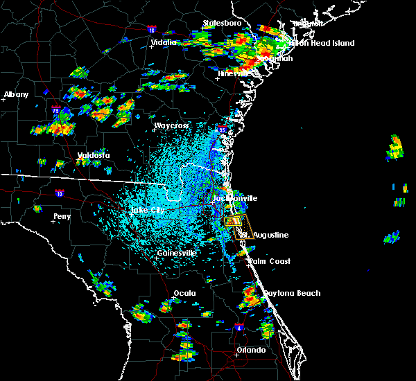 Radar Image for Severe Thunderstorms near Palm Valley, FL at 8/9/2020 3:33 PM EDT