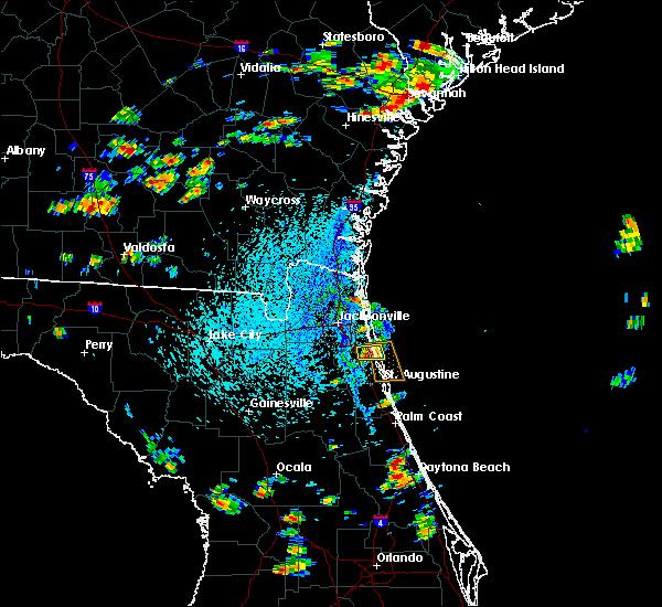 Radar Image for Severe Thunderstorms near Jacksonville, FL at 8/9/2020 3:33 PM EDT