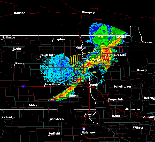 Radar Image for Severe Thunderstorms near Arthur, ND at 8/9/2020 2:40 PM CDT
