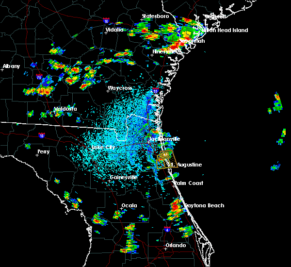 Radar Image for Severe Thunderstorms near Palm Valley, FL at 8/9/2020 3:41 PM EDT