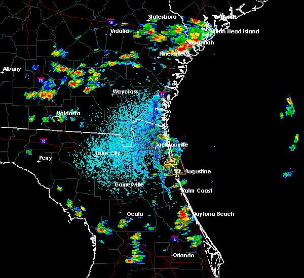 Radar Image for Severe Thunderstorms near Jacksonville, FL at 8/9/2020 3:41 PM EDT