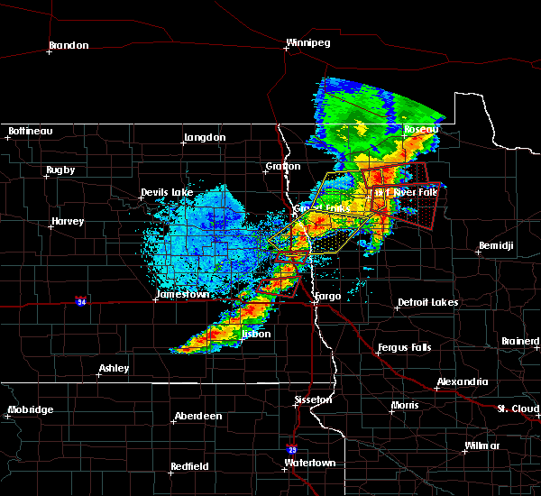 Radar Image for Severe Thunderstorms near Warroad, MN at 8/9/2020 2:52 PM CDT
