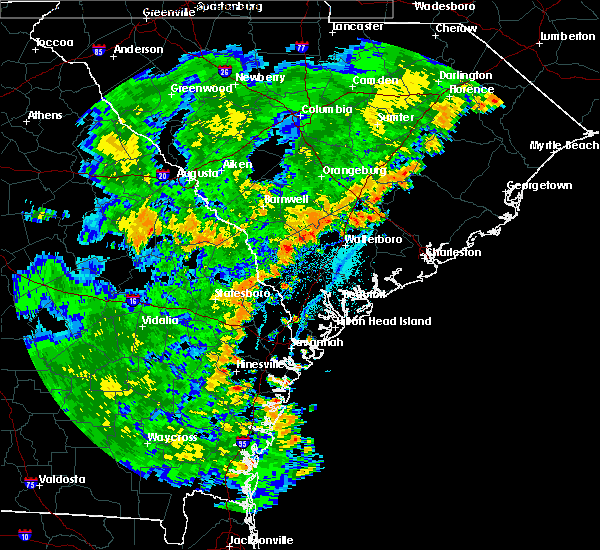 Radar Image for Severe Thunderstorms near Summerville, SC at 7/2/2015 6:56 PM EDT
