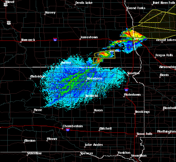 Radar Image for Severe Thunderstorms near Cogswell, ND at 8/9/2020 3:58 PM CDT