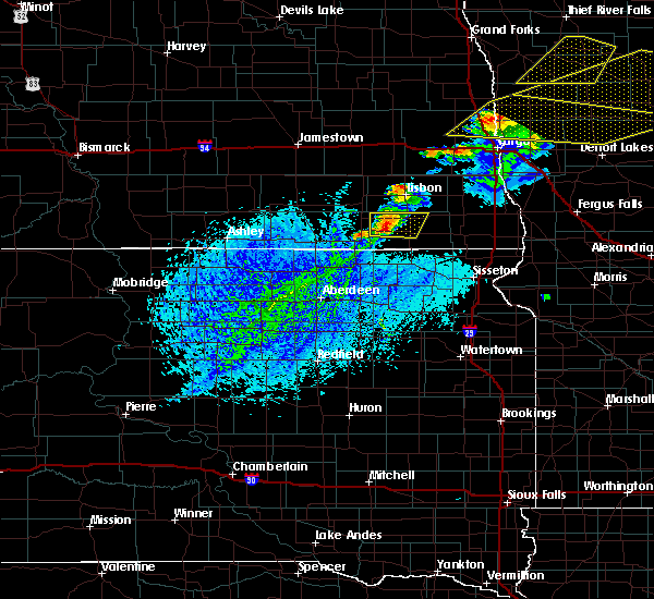 Radar Image for Severe Thunderstorms near Cogswell, ND at 8/9/2020 4:14 PM CDT