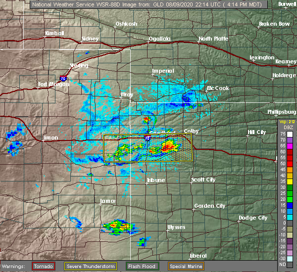 Radar Image for Severe Thunderstorms near Wallace, KS at 8/9/2020 4:19 PM MDT