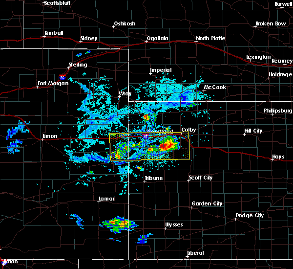 Radar Image for Severe Thunderstorms near Wallace, KS at 8/9/2020 4:26 PM MDT