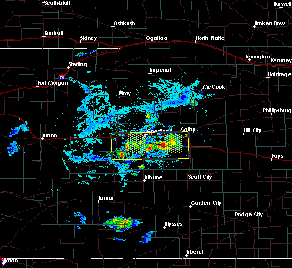 Radar Image for Severe Thunderstorms near Goodland, KS at 8/9/2020 4:39 PM MDT