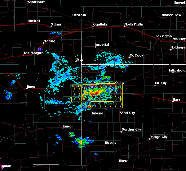 Radar Image for Severe Thunderstorms near Wallace, KS at 8/9/2020 5:58 PM CDT