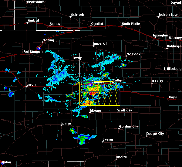 Radar Image for Severe Thunderstorms near Goodland, KS at 8/9/2020 6:18 PM CDT