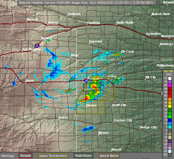 Radar Image for Severe Thunderstorms near Wallace, KS at 8/9/2020 6:48 PM CDT