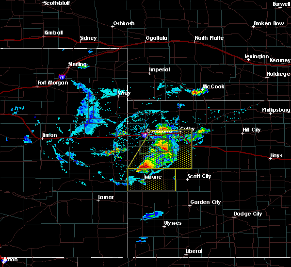 Radar Image for Severe Thunderstorms near Winona, KS at 8/9/2020 6:59 PM CDT