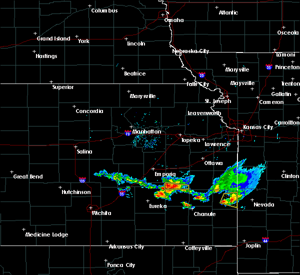 Radar Image for Severe Thunderstorms near Hamilton, KS at 8/9/2020 7:06 PM CDT