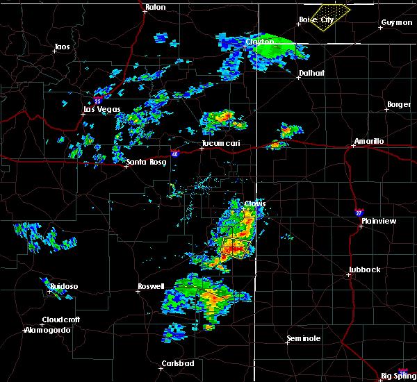 Radar Image for Severe Thunderstorms near Dora, NM at 8/9/2020 6:18 PM MDT