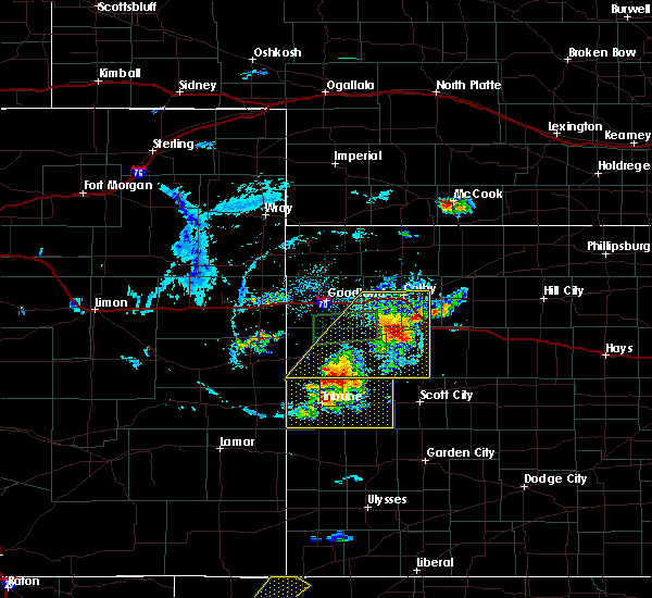 Radar Image for Severe Thunderstorms near Wallace, KS at 8/9/2020 7:23 PM CDT