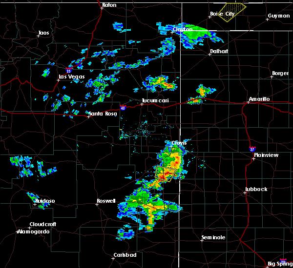 Radar Image for Severe Thunderstorms near Dora, NM at 8/9/2020 6:29 PM MDT