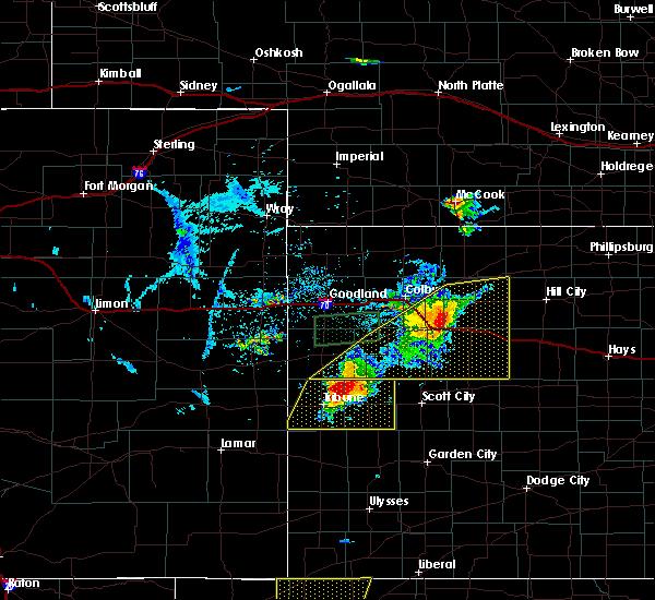 Radar Image for Severe Thunderstorms near Rexford, KS at 8/9/2020 7:48 PM CDT