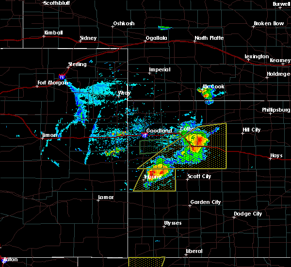 Radar Image for Severe Thunderstorms near Hoxie, KS at 8/9/2020 7:55 PM CDT