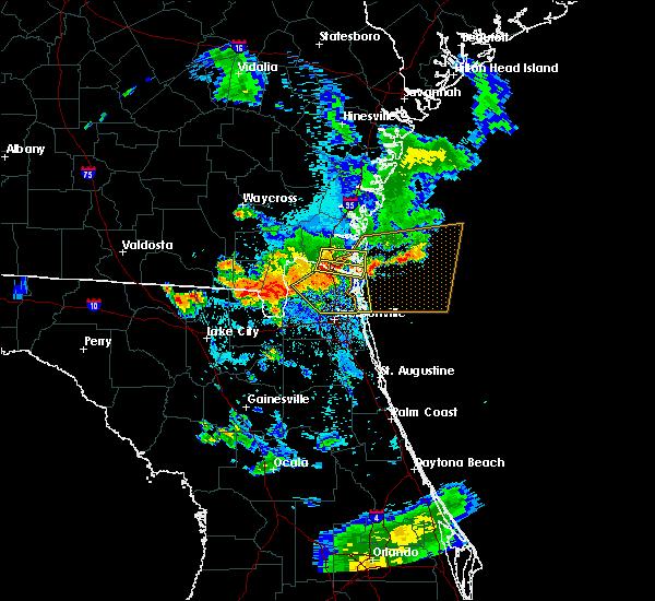 Radar Image for Severe Thunderstorms near Kingsland, GA at 8/9/2020 8:58 PM EDT