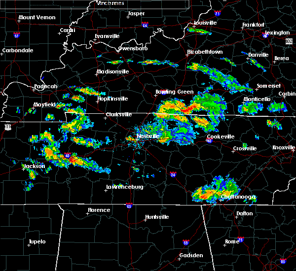Radar Image for Severe Thunderstorms near Gamaliel, KY at 7/2/2015 6:05 PM CDT