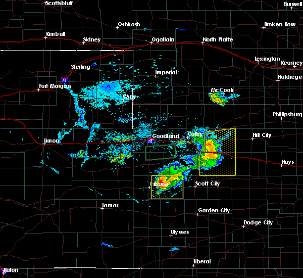 Radar Image for Severe Thunderstorms near Hoxie, KS at 8/9/2020 8:08 PM CDT
