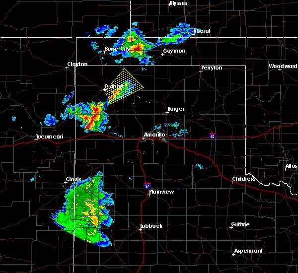Radar Image for Severe Thunderstorms near Vega, TX at 8/9/2020 8:49 PM CDT