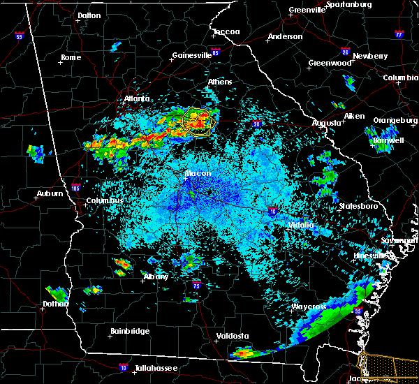 Radar Image for Severe Thunderstorms near Buckhead, GA at 8/9/2020 9:59 PM EDT