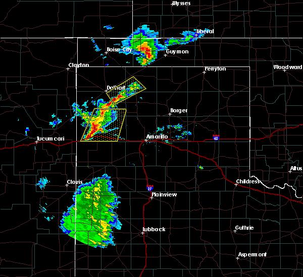 Radar Image for Severe Thunderstorms near Vega, TX at 8/9/2020 9:04 PM CDT