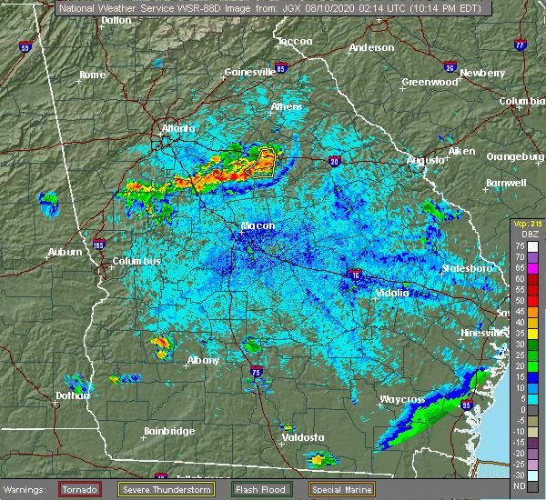 Radar Image for Severe Thunderstorms near Buckhead, GA at 8/9/2020 10:23 PM EDT