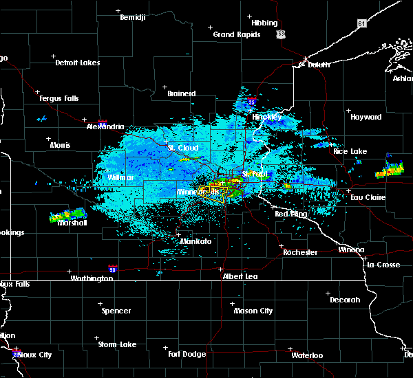 Radar Image for Severe Thunderstorms near Richfield, MN at 8/9/2020 10:00 PM CDT