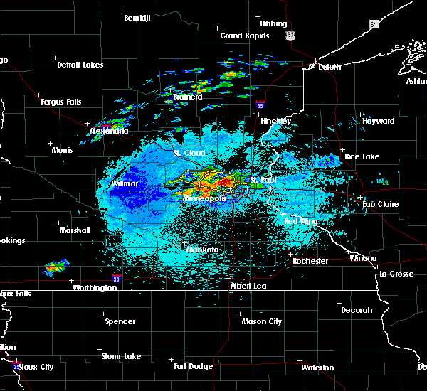 Radar Image for Severe Thunderstorms near Shakopee, MN at 8/10/2020 12:57 AM CDT