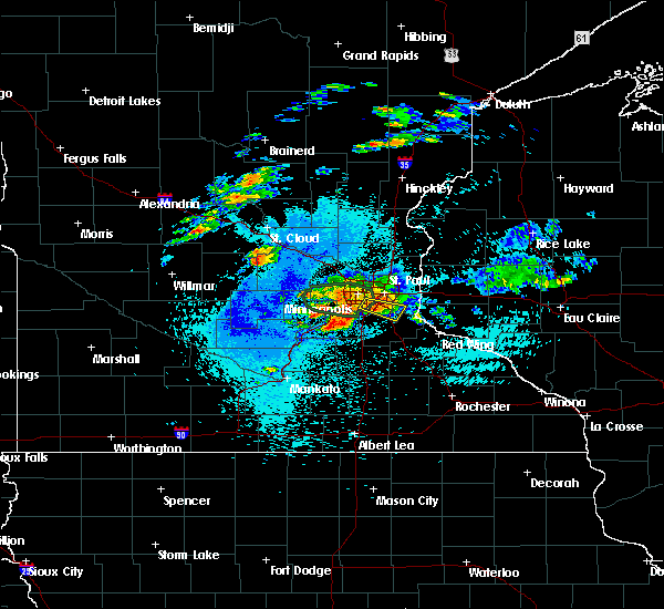 Radar Image for Severe Thunderstorms near Annandale, MN at 8/10/2020 2:07 AM CDT