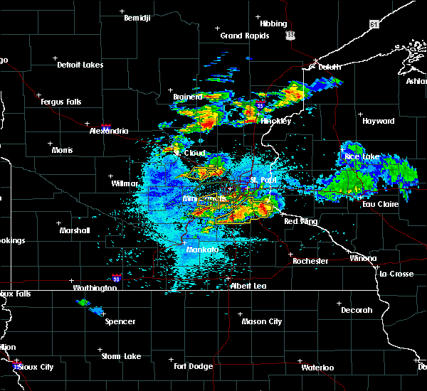 Radar Image for Severe Thunderstorms near Lakeville, MN at 8/10/2020 3:12 AM CDT