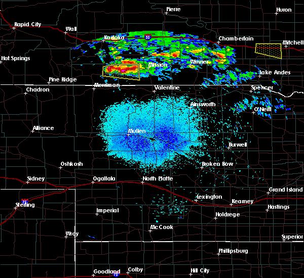 Radar Image for Severe Thunderstorms near Rosebud, SD at 8/10/2020 3:16 AM CDT