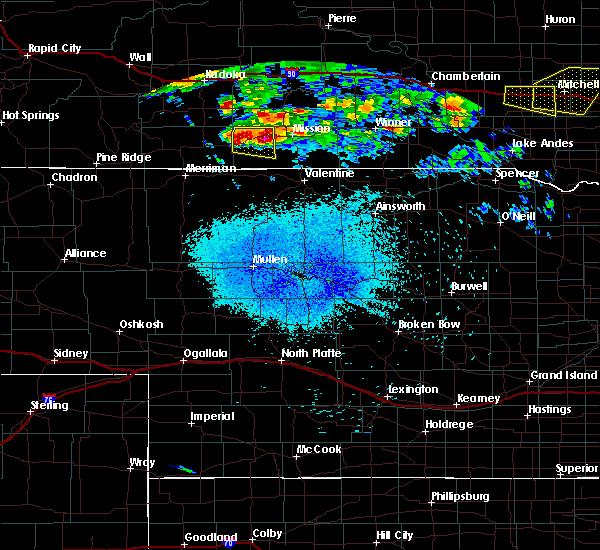 Radar Image for Severe Thunderstorms near Rosebud, SD at 8/10/2020 3:32 AM CDT