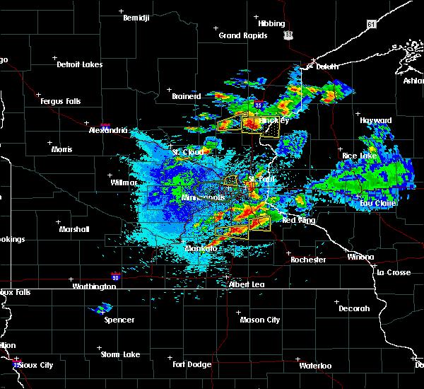 Radar Image for Severe Thunderstorms near Brook Park, MN at 8/10/2020 4:03 AM CDT