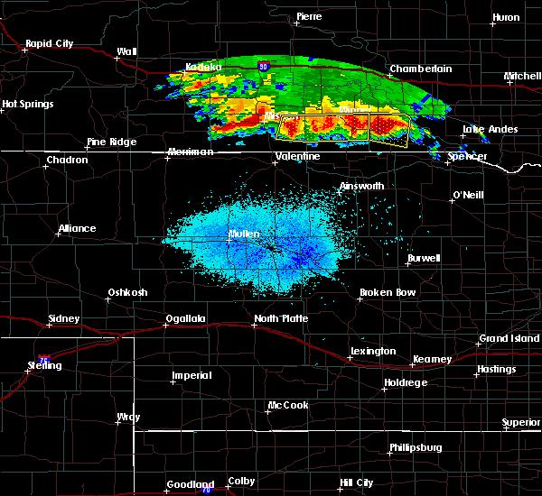 Radar Image for Severe Thunderstorms near Herrick, SD at 8/10/2020 4:40 AM CDT