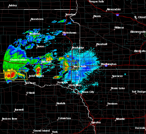 Radar Image for Severe Thunderstorms near Platte, SD at 8/10/2020 4:52 AM CDT