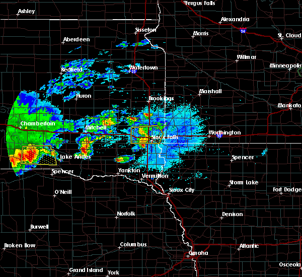 Radar Image for Severe Thunderstorms near Platte, SD at 8/10/2020 5:07 AM CDT
