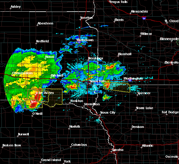 Radar Image for Severe Thunderstorms near Lindy, NE at 8/10/2020 5:58 AM CDT