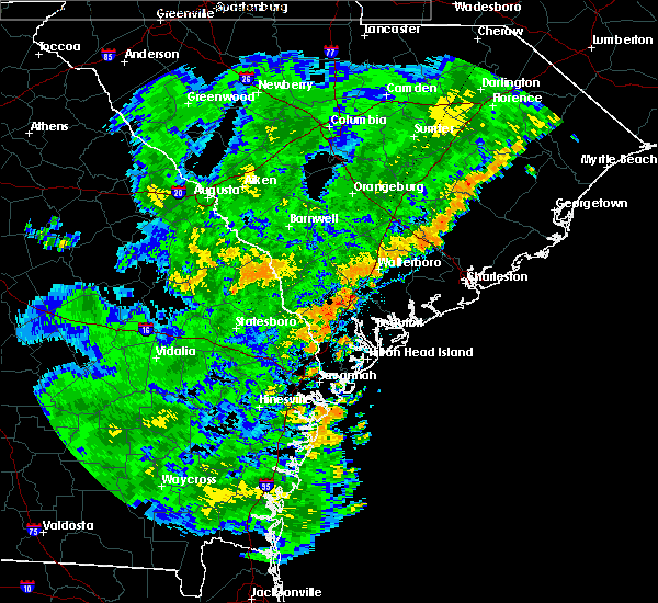 Radar Image for Severe Thunderstorms near Summerville, SC at 7/2/2015 7:22 PM EDT