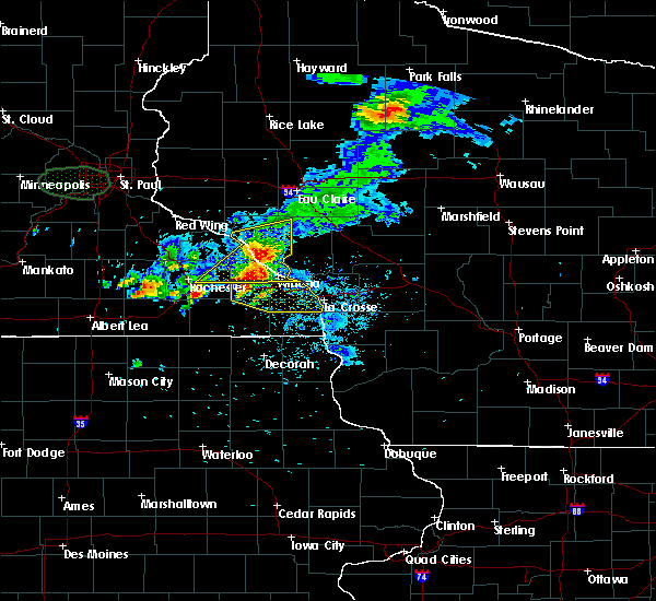 Radar Image for Severe Thunderstorms near Hokah, MN at 8/10/2020 5:59 AM CDT