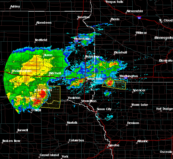 Radar Image for Severe Thunderstorms near Lindy, NE at 8/10/2020 6:15 AM CDT