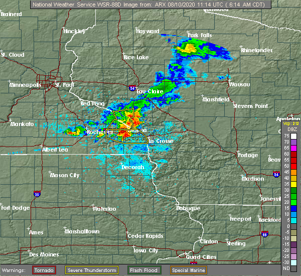 Radar Image for Severe Thunderstorms near St. Joseph, WI at 8/10/2020 6:23 AM CDT