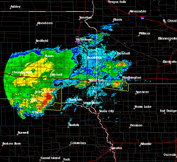 Radar Image for Severe Thunderstorms near George, IA at 8/10/2020 6:27 AM CDT