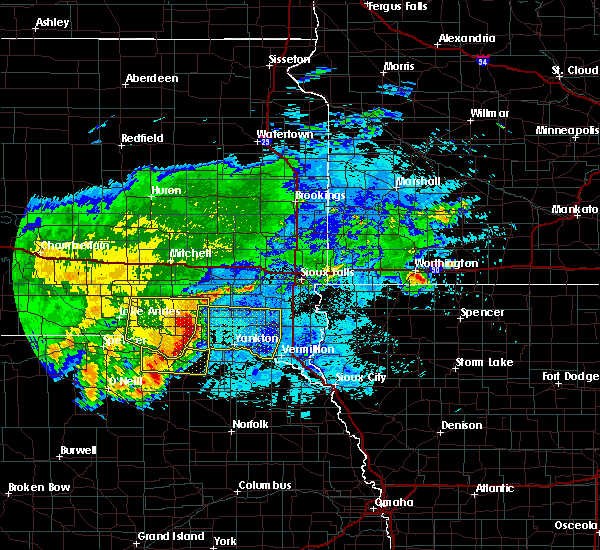 Radar Image for Severe Thunderstorms near Verdigre, NE at 8/10/2020 6:41 AM CDT