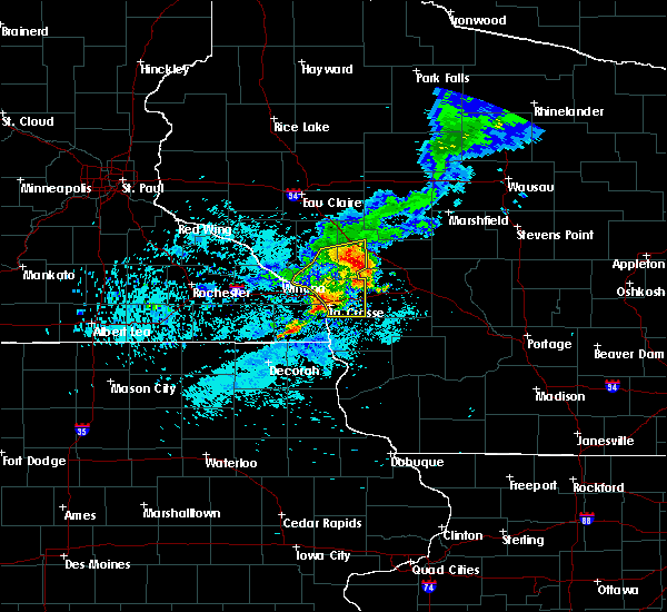 Radar Image for Severe Thunderstorms near Hatfield, WI at 8/10/2020 6:54 AM CDT