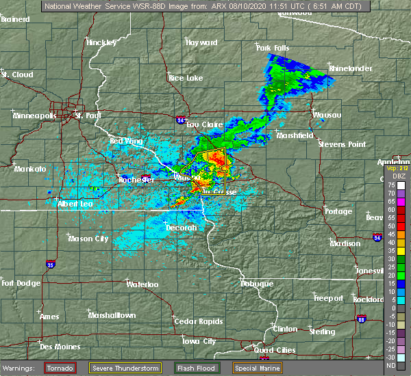 Radar Image for Severe Thunderstorms near St. Joseph, WI at 8/10/2020 6:58 AM CDT